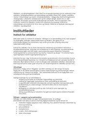 Les hele utlysningen her - Arkitektur- og designhøgskolen i Oslo