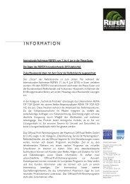 Internationale Fachmesse REIFEN vom 1. bis 4. Juni in der Messe ...