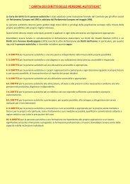Carta dei diritti delle persone autistiche - Diversamente Onlus