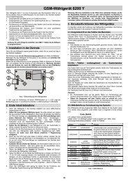 GSM-Wählgerät 8200 Y - Indexa