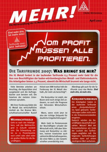 Aktionszeitung - Redaktionssystem *.igm.de - IG Metall Baden ...