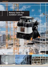 Rotary laser for outdoor areas - Spot-on.net