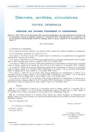 Liste des substances interdites - Agence française de lutte contre le ...