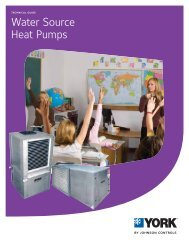 Water Source Heat Pumps, Technical Guide, YK145.00-EG4 - UPGNet