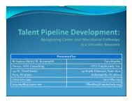 Talent Pipeline Development