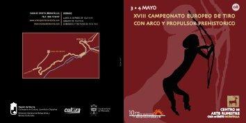 XVIII Campeonato Europeo de tiro con arco y propulsor prehistórico