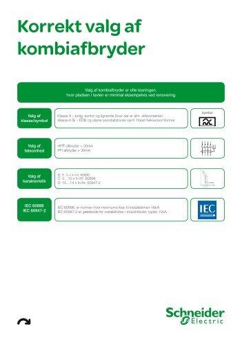 Korrekt valg af kombiafbryder - Schneider Electric