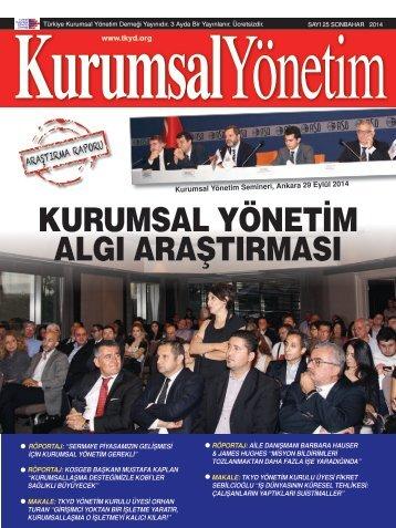 Kurumsal Yönetim Dergisi Sayı 25
