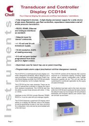 Transducer and Controller Display CCD104 - Chell Instruments