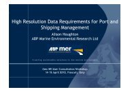 High Resolution Data Requirements for Port and Shipping ...