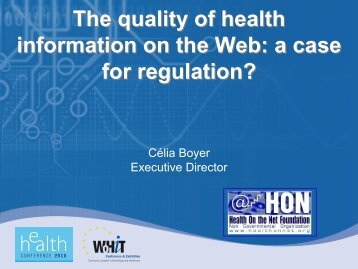 The quality of health information on the Web: a ... - World of Health IT