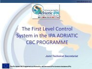 IPA Adriatic CBC Programme First Level Control System