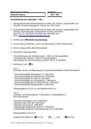 Bekanntmachung Öffentl. Ausschreibung - Die Vergabeplattform des ...
