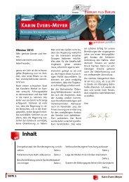 Bericht aus Berlin Oktober 2010 - Karin Evers-Meyer MdB