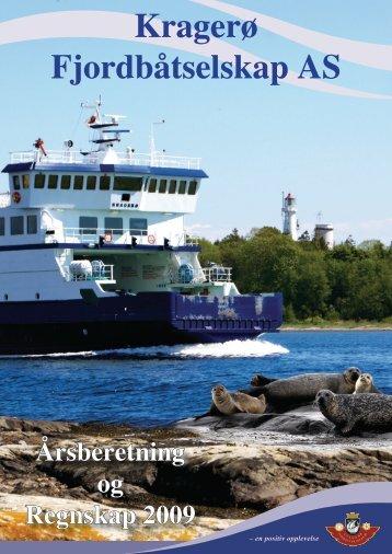 Regnskap 2009 - Kragerø Fjordbåtselskap