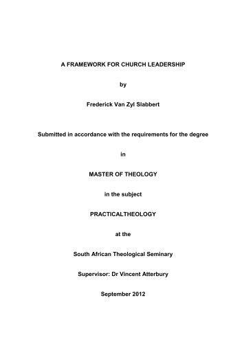 Theology thesis pdf