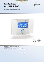regulator pokojowy ecoSter 200 - instrukcja montażu i ... - Polmark