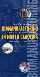 biomanufacturing in north carolina - North Carolina Biotechnology ...