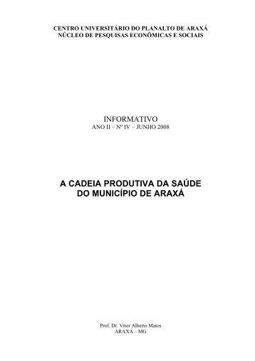 a cadeia produtiva da saúde do município de araxá - uniaraxá