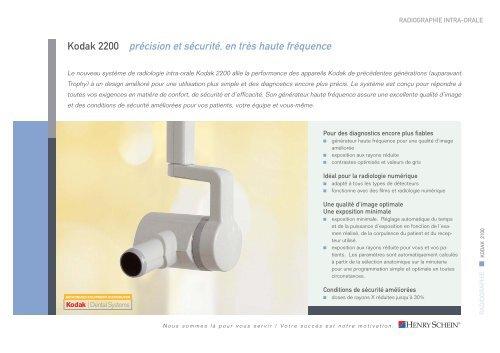 Kodak 2200 précision et sécurité, en très haute ... - Henry Schein