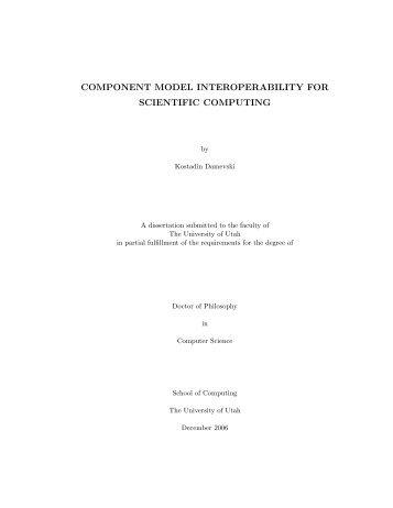 component model interoperability for scientific computing