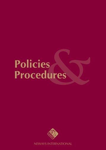 Policies & Procedures 2 - Neways Australia