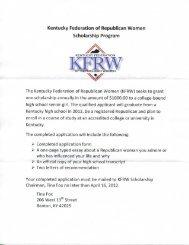 Kentucky Federation of Republican Women Scholarship Program