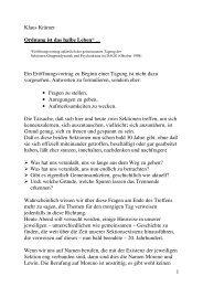 1 Klaus Krämer Ordnung ist das halbe Leben* ... Ein ...