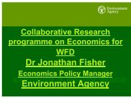 Collaborative Research programme on Economics for WFD