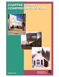 chaffee county comprehensive plan chaffee county comprehensive
