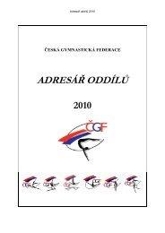 adresář oddílů čgf - 2010 - Česká gymnastická federace