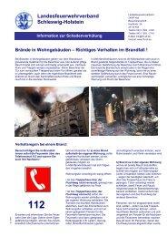 Brände in Wohngebäuden – Richtiges Verhalten im ... - Langballig