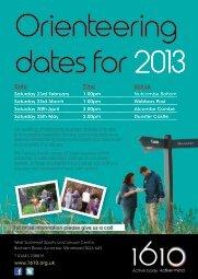 Orienteering dates for2013 - Zing Somerset
