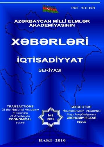 XEBERLER 2010 #2 son - Ä°qtisadiyyat Ä°nstitutu