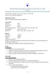 Referat fra bestyrelsesmøde tirsdag den 28. april 2011, kl. 19.00