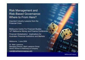 Risk Management and Risk Based Governance - Australian Centre ...
