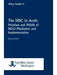The HDC in Aceh: Promises and Pitfalls of NGO ... - ScholarSpace