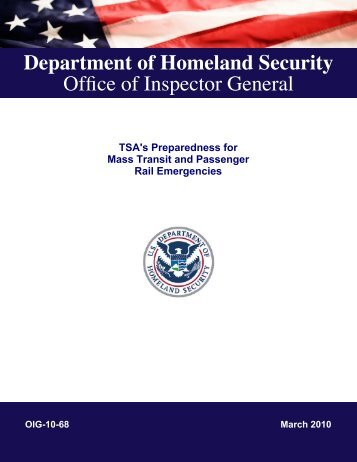 OIG-10-68 - Office of Inspector General - Homeland Security