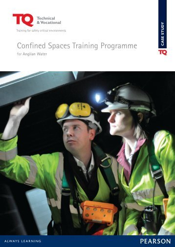 Confined Space Training for Anglian Water - TQ Education and ...