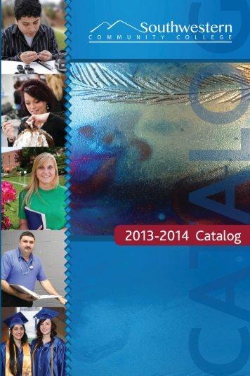2013-2014 Catalog pdf - Southwestern Community College