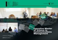 Executive Master of Science in Communications Management