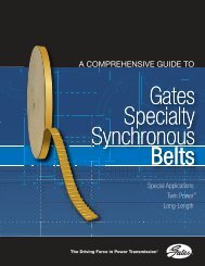Gates Specialty Synchronous Belts