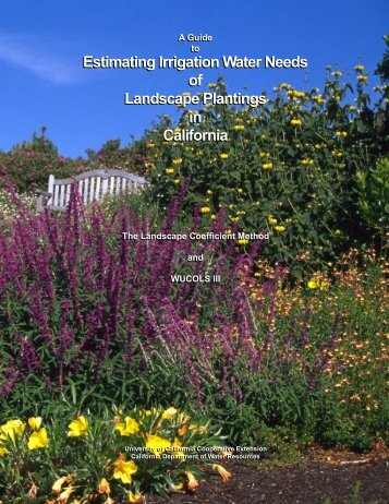 Guide to Estimating Irrigation Water Needs of Landscape Plantings