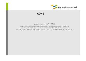 ADHS - Psychiatrie-Dienste Süd
