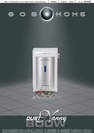 Bac à poussière avec aspiration automatique 800W ... - BOB HOME
