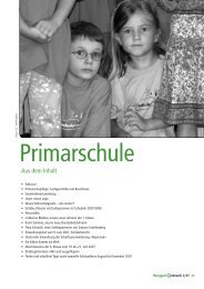 Aus dem Inhalt - Primarschule Henggart