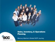 Sales, Inventory, & Operations Planning - Supply Chain Council