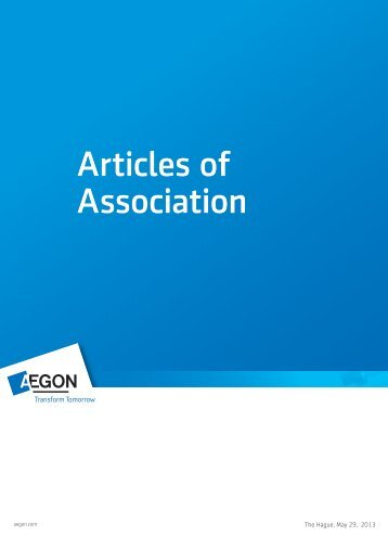 Articles of Association-English - Aegon