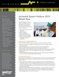 ArchestrA System Platform 2012 What's New - Wonderware
