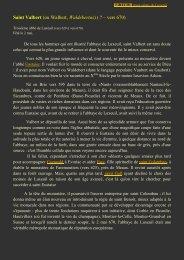 Saint Valbert - L'association des Amis de Saint Colomban